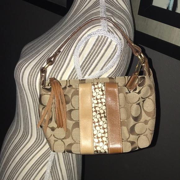 Coach Handbags - 🔥 SALE - Coach leather & canvas, CLEAN